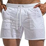 Tofern - Bañador ajustable para hombre con cordón, blanco, extra-small