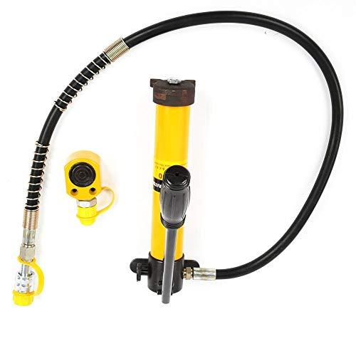 Hydraulik Reparatursatz, 5 Tonnen Tragbare Hydraulikzylinder mit 700/20 kg/cm² Manueller Hydraulikpumpe für Autoreparaturen, Rahmenreparaturen und Bauarbeiten