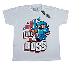 Minecraft Camiseta de Manga Corta Oficial Mojang para Niños