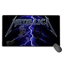 マウスパッド Metallica デスクマット 超大判 マウスパッド デスクパッド 大型 ゲーミングマウスパッド 事務所机用 パソコンマット レーザー 光学式マウス対応 傷防止 防水 滑り止め 多機能 75cm X 40cm