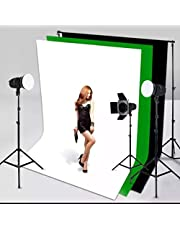 VTS® 8×12ft. Photography Studio Non-Woven Backdrop Background Screen Combo 3-Colors for Option Black White Green
