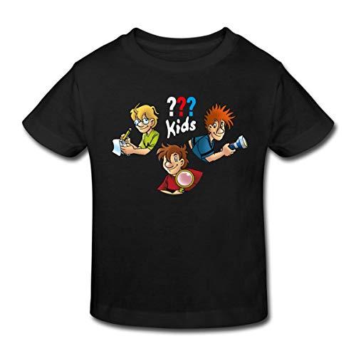 Die DREI Fragezeichen Kids Detektive Kinder Bio-T-Shirt, 152, Schwarz