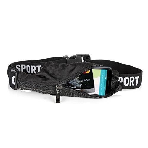 Oramics Sport Bauchtasche - extra flache Gürteltasche - Umhängetasche mit großer Kapazität - praktische Handysporttasche und Lauftasche