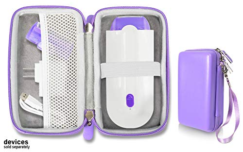 Purple Hair Remover case by Alltravel for Finishing Touch Yes Hair Remover, mesh Accessory Pocket, Easy to go Wrist Strap