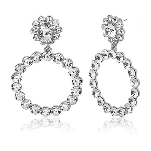 AQUALITYS Pendientes de Perla simulada para Mujer, Pendientes geométricos Bohemios, joyería de Boda, Pendientes coreanos-256