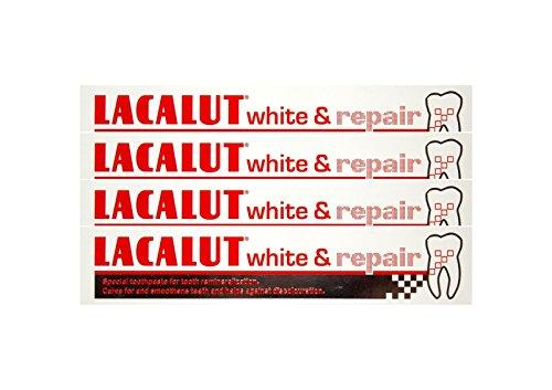 4x LACALUT white & repair Zahncreme 75 ml PZN: 04387912 Spezialzahncreme Zahnpasta