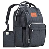mommy gear - Diaper Bag Backpack - Large Waterproof Travel Baby Bags (Mystic Gray)