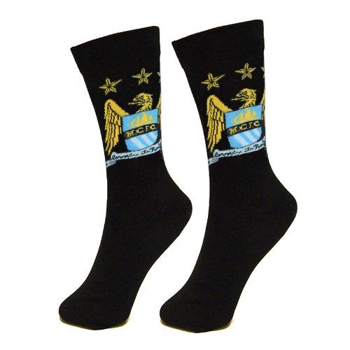 Manchester City Chaussettes officielles unisexes, multicolores, taille 39-45