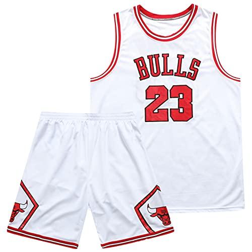 GQTYBZ Camiseta De La NBA, 23 Camiseta Retro Transpirable All-Stars Uniforme Unisex, Tela Fresca y Transpirable Camiseta de Baloncesto de Secado Rápido + Pantalones Cortos de Entrenamiento