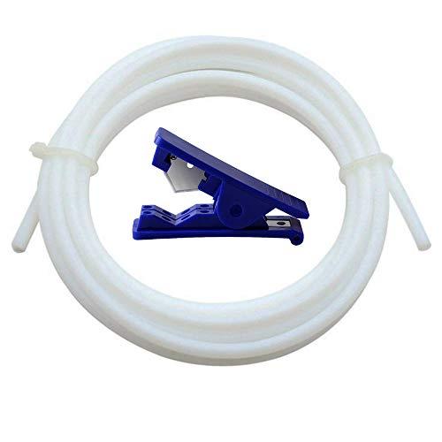 CESFONJER PTFEテフロンチューブ8M / 26.2ft- 2mm ID X 4mm外径1.75フィラメントBowden 3Dプリンター - アレンテックPTFEテフロンチューブ+ PTFEテフロンチューブカッター