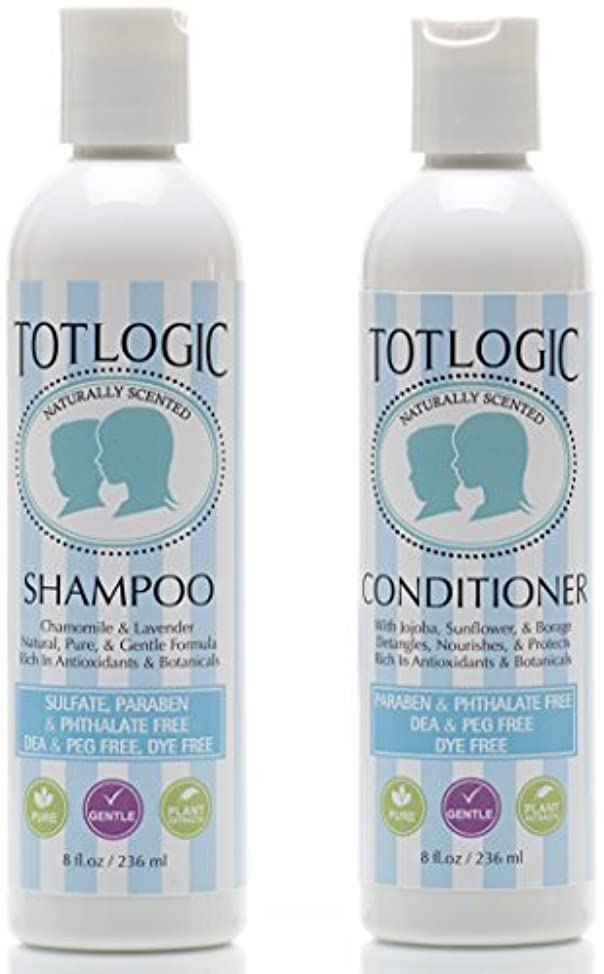 TotLogic Kids Shampoo & Conditioner Set - Sulfate and Paraben Free, Phthalate Free, Non-Toxic Plant Based Natural Formulas - Gentle & Hypoallergenic for Senstive Skin, Scented with Essential Oils