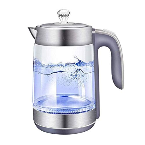 Electric Kettles Electric Tea Kettle 1.8L,1500W Fast Boiling Glass Electric Kettle,BPA-Free & 304 Stainless Steel Hot Water Boiler Kettle with LED Indicator Light, Automatic Shut-Off & Boil-Dry Protec