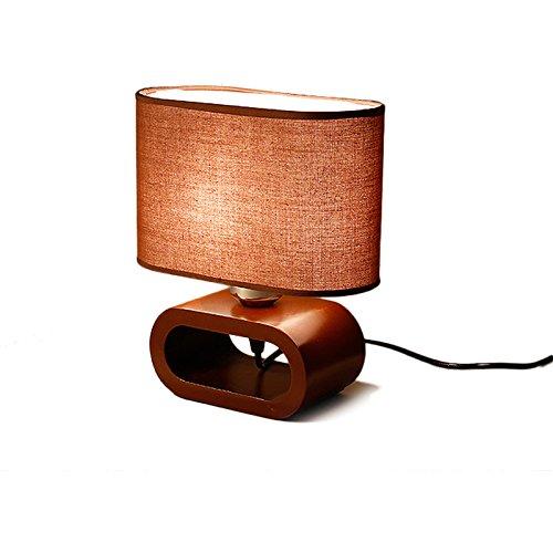 ZWL Lampe de table créative en bois massif, chambre d'hôtel Lampe à poser Lampe de chevet Bureau Étudiant Lampe de bureau pour l'apprentissage de l'agneau Aménagement de la maison Lampes de salon Lampe décorative E27 Lampes d'éclairage 16 * 25CM fashion.z ( Couleur : #1 )