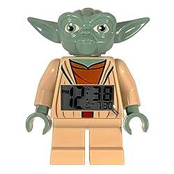 LEGO Star Wars Yoda Minifigure  Alarm Clock, 9.5, Red (Model: 9003080)