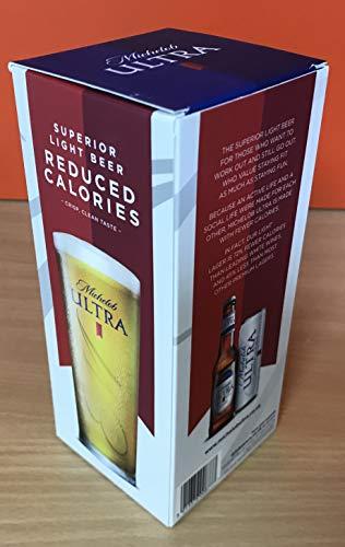 Michelob Ultra Light - Vaso de cerveza (2 unidades)