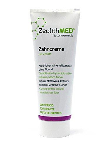 Zeolith MED® Zahncreme 75 ml, Zeolith MED® Zahnpasta, natürlicher Wirkstoffkomplex, ohne Fluorid