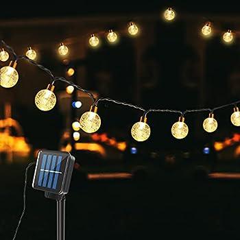 43ft 100-LED Solar Powered Waterproof Crystal Globe String Lights