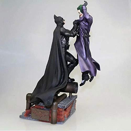 Modello di Statua Animebatman Arkham Batman Vs Joker PVC Action Figure Statua Modello da Collezione Anime Supereroe Giocattoli per Bambini Bambola 30Cm