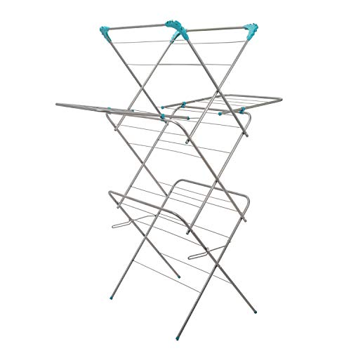 Guaranteed4Less Clothes Airer 3 Tier With Wings Laundry Dryer Concertina Indoor Outdoor Patio Drier Horse