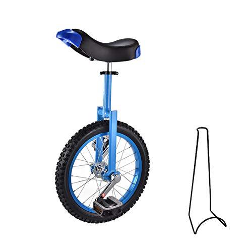 Monociclo, 16 pollici, 18 pollici, monociclo per bambini, regolabile in altezza, con supporto per bicicletta e attrezzi...