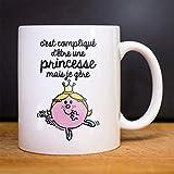 Mug C'EST COMPLIQUÉ D'ÊTRE UNE PRINCESSE - Mug céramique de qualité. Mug imprimé en France