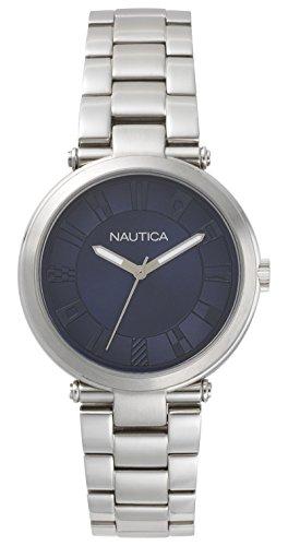 Nautica Damen Analog Quarz Uhr mit Edelstahl Armband NAPFLS004