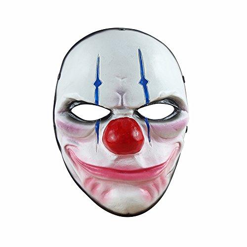 Digo3D Halloween Maske Payday 2 Spielmaske für Cosplay Party, Zaun, Kriegsspiel, Kostümspiel und mehr Art Deco 25.5cm(H)×18.5cm(W) Payday2 Chains