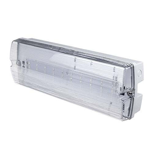 G.W.S® 3W LED Emergency Bulkhead Fitting Maintained or Non-Maintained Exit Sign Light IP65 Waterproof