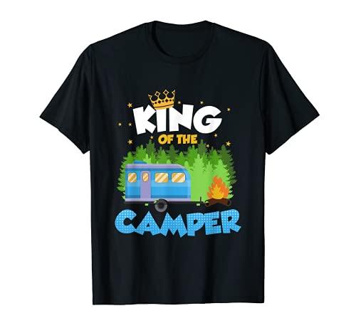 King of the Camper Campingshirt Geschenk Männer Camping T-Shirt