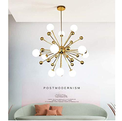 XZhstes Postmodern - Lámpara de araña molecular de cristal para el hogar, decoración de dormitorio, creativa, iluminación nórdica, para sala de estar, 60 x 60 cm, 80 x 80 cm (tamaño: 80 cm)