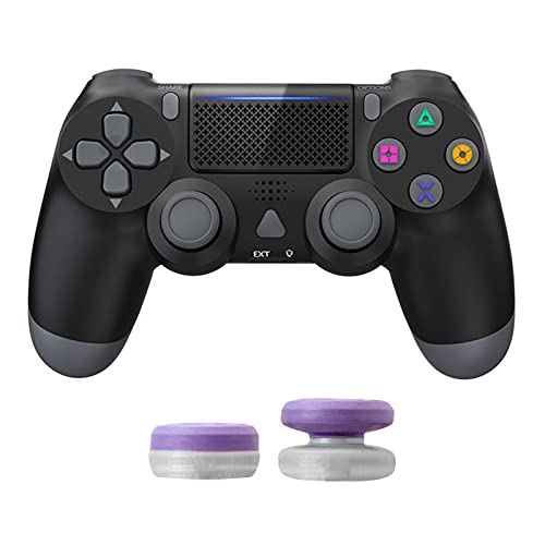 Gaming Wireless Controller for PS4, Zamia Bluetooth Remote Game Controller Micro USB Gaming Joypad with Dual Shock for PS4/Pro/Slim, Classic Black