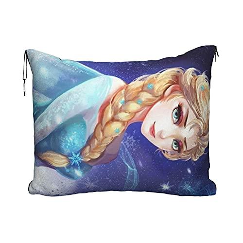 Manta de viaje Elsa de dibujos animados para exteriores, ultraligera, súper suave, cálida colcha para descanso de avión, manta de 152 x 109 cm