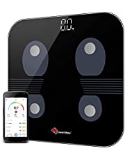PowerMax Fitness® Bluetooth Body Fat Scale - Smart BMI Digital Bathroom Wireless Weight Scale & Body Composition Analyser with Smartphone App