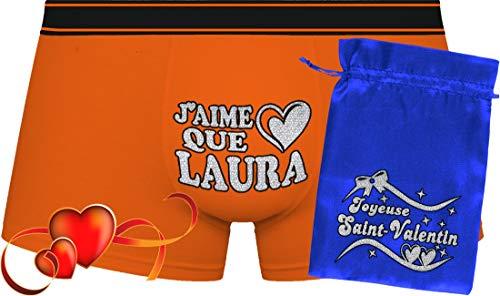 J'aime Que Laura   Saint-Valentin   Orange Boxershorts & Blue Bag ''Valentin''.