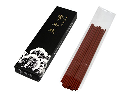 Oud Gyokushodo Japanese Agarwood Incense Sticks Room Incense Kan Mini Pack 3.5 inches 40 Sticks Less Smoke Made in Japan Trial Size Aloeswood Green Tea Scent Short Type