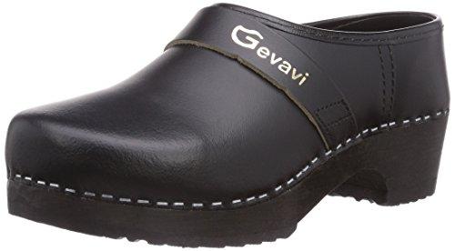 Gevavi Unisex-Erwachsene 900 SCHOENKLOMP 44 Clogs, Schwarz (Schwarz(Zwart) 00), EU