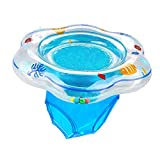 Easyva Baby Swimming Float Ring, Pool Swim Ring with Safety Seat for Baby Age 6-36 Month, Double Airbag, Suitable Baby Swim , Bath or Swim Training