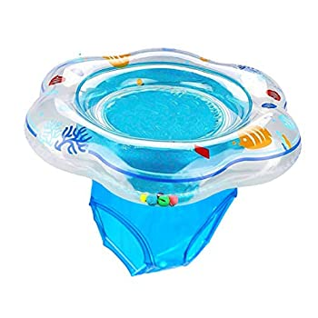 Easyva Baby Swimming Float Ring Pool Swim Ring with Safety Seat for Baby Age 6-36 Month Double Airbag Suitable Baby Swim  Bath or Swim Training