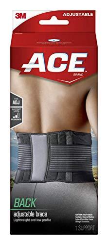 ACE - 207744 Ace Back Brace, One Size Adjustable Black|blacks
