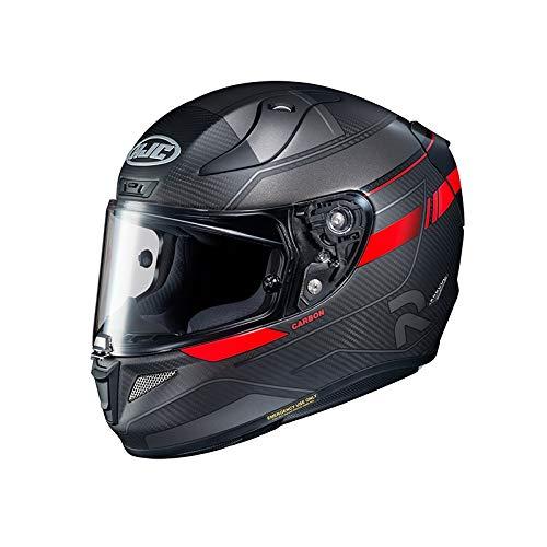 Casco de moto HJC RPHA 11 CARBON NAKRI MC1SF, Negro/Rojo, XL