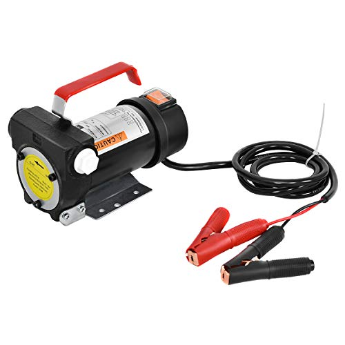 COROTC 12V Fuel Transfer Pump Mini Portable Stainless Steel On//Off Switch Oil Diesel Fuel Transfer Water Pump 12V 40mm