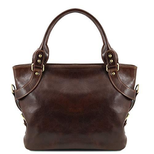 Tuscany Leather Ilenia Borsa a spalla Testa di Moro