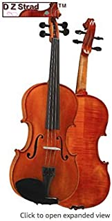 D Z Strad Violin Model 101 with Solid Wood 4/4 Full Size with Case, Bow, and Rosin (4/4 - size)
