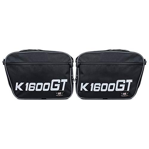 GREAT BIKERS GEAR - 1 par de bolsas de equipaje para BMW K1600GT y GTL, calidad K1600GT estampadas.
