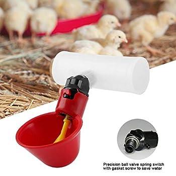 FTVOGUE Abreuvoirs automatiques au Poulet Abreuvoirs avec Tasses Bols Distributeur d'eau Potable Mangeoire à Oiseaux(25mm / 0.9in)