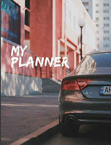 AUDI A7  Undated Weekly  Planner for Men: Custom interior to write in with to do lists, notes, calendar. Perfect gift for any car lovers