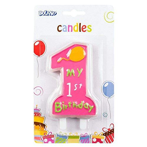Candela My 1st Birthday Rosa con supporto