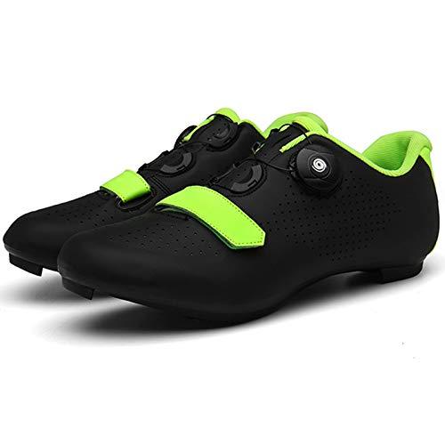 YQSHOES Zapatillas Ciclismo para Hombre Calzado Bicicleta Carretera con SPD y Zapatos Tacos Delta Bicicletas Carrera Aire Libre,Negro,47U/11UK/11.5US