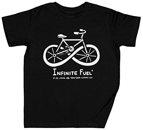 Infinite Fuel Negro Niños Chicos Chicas Camiseta Unisexo Grey Kid's Boys Girls tee