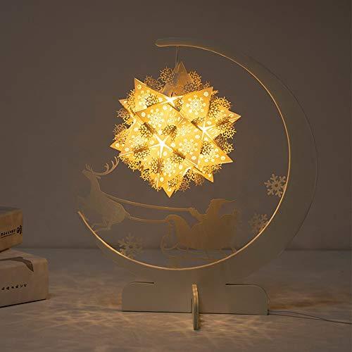 nakw88 Lámpara de Mesa Lámpara de iluminación de Papel Lámpara de Escultura DIY Material/Origami Nightlights/Cultural y Creativo Regalo (Color : Yellow)